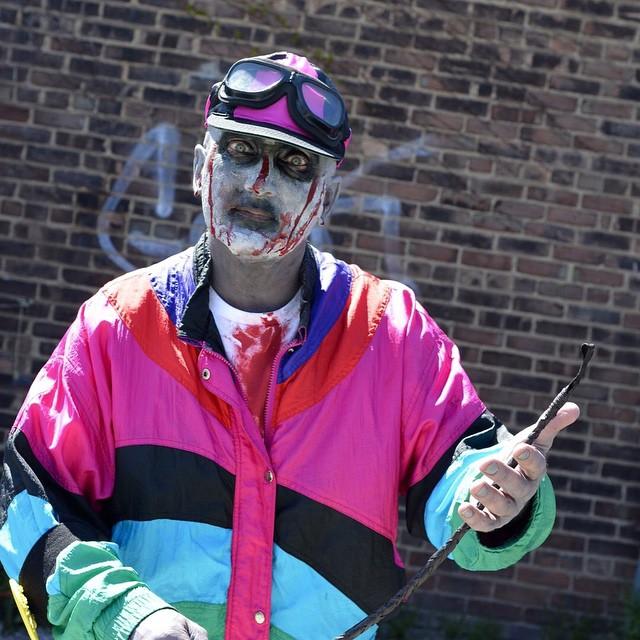 Zombie Jockey at SpitfireSaloon Zombie Walk amp Food Drive kyderbyhellip