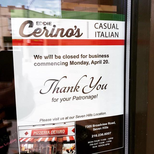 Arrivederci Cerinos Lakewood