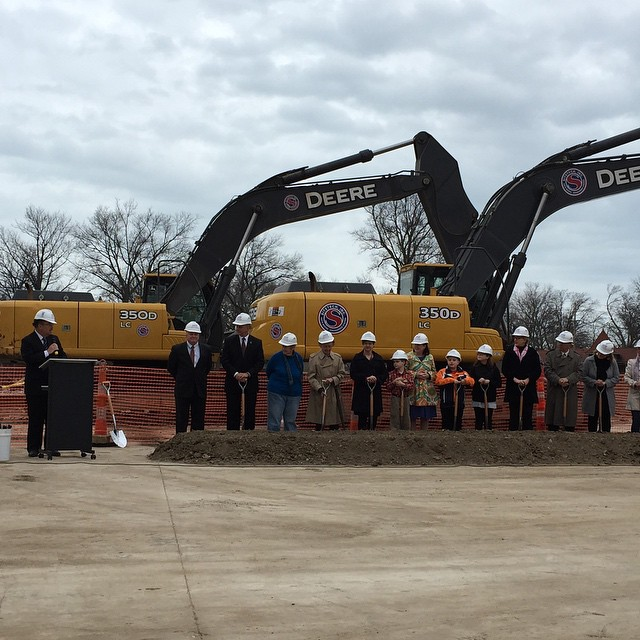 Lincoln Elementary ground breaking