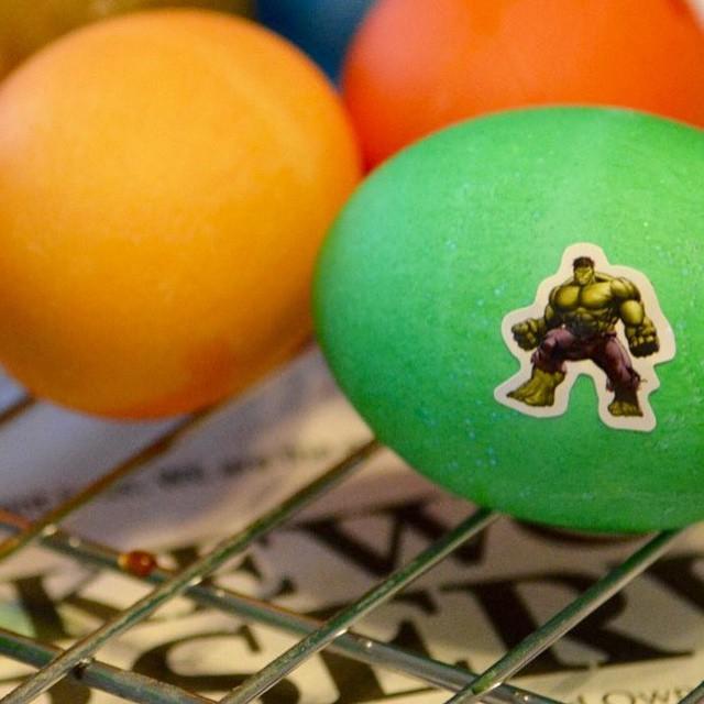 Dyeing eggs HappyEaster