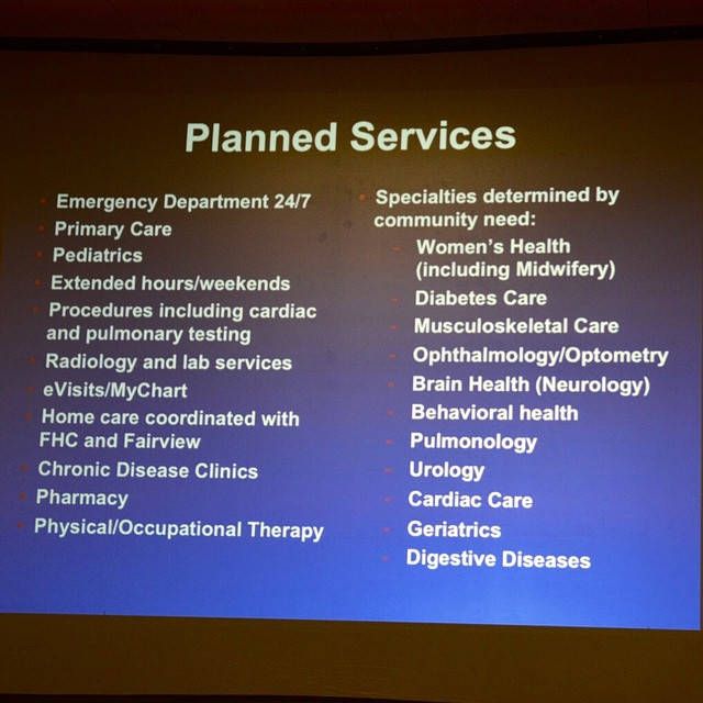 List of planned services for the Lakewood Wellness Center tohellip