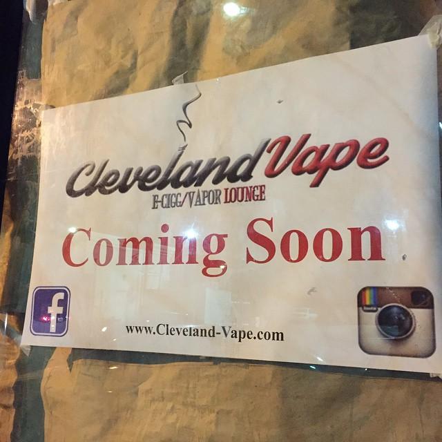 clevelandvape ecigarette  vapor lounge opening in May at 1411hellip