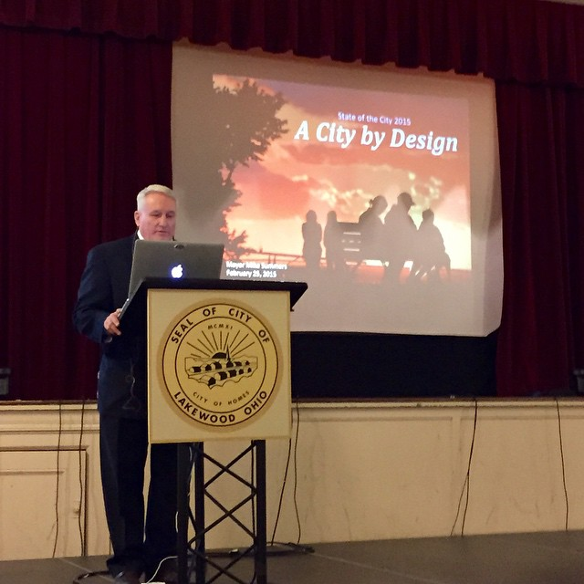 LakewoodMayor Summers getting started with the State of the Cityhellip