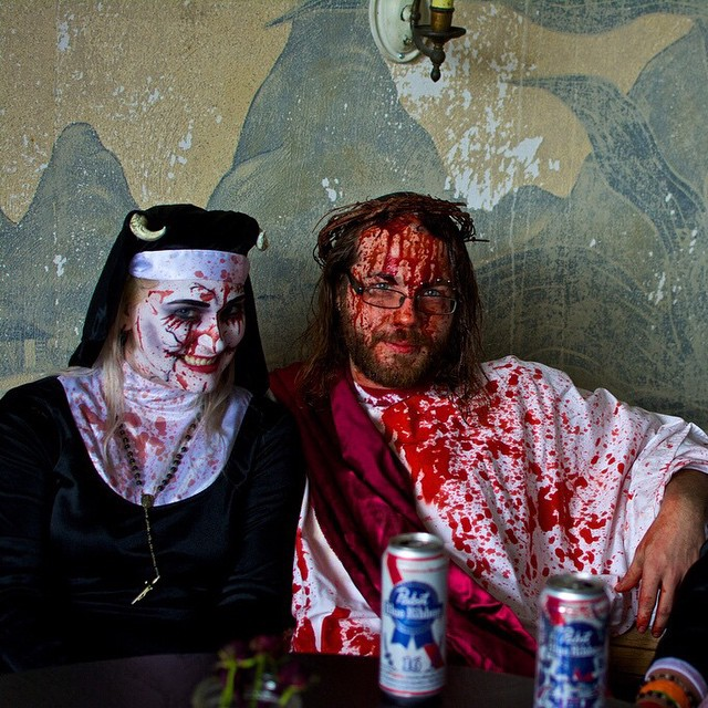 Happy Easter from Zombie Jesus at mahalls20lanes ZombieFest