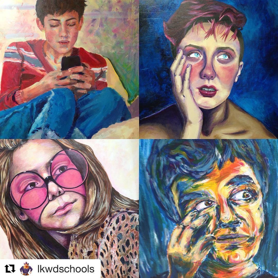 Repost lkwdschools getrepost  Seniors Art Show 2017 amazing RangerPride