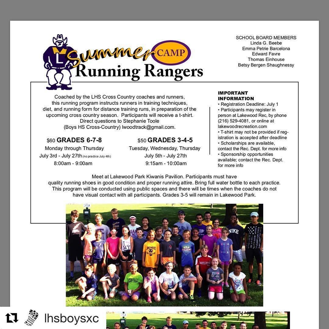 Repost lhsboysxc getrepost  Registration for the Lakewood Running Rangershellip