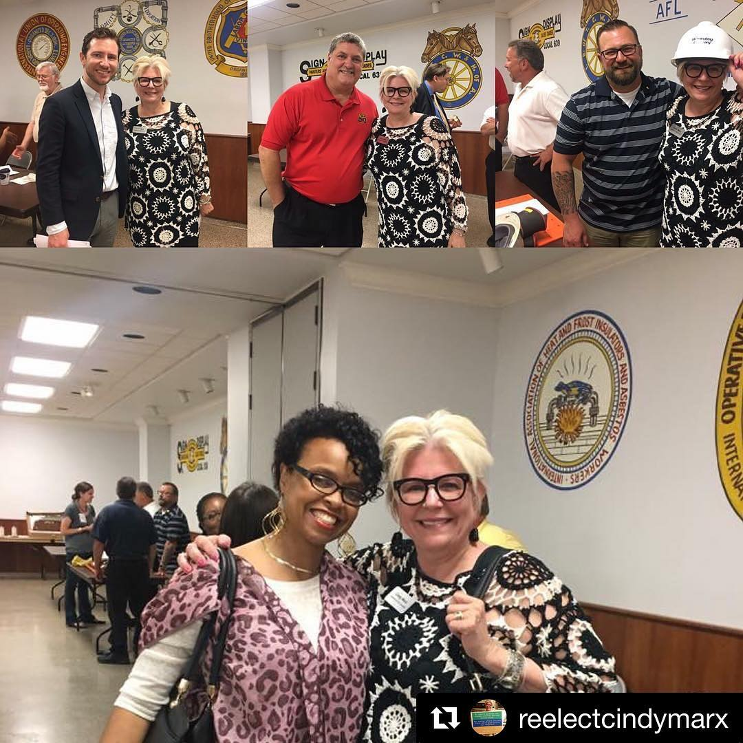 Repost reelectcindymarx  Enjoyed talking to our terrific union leadershellip