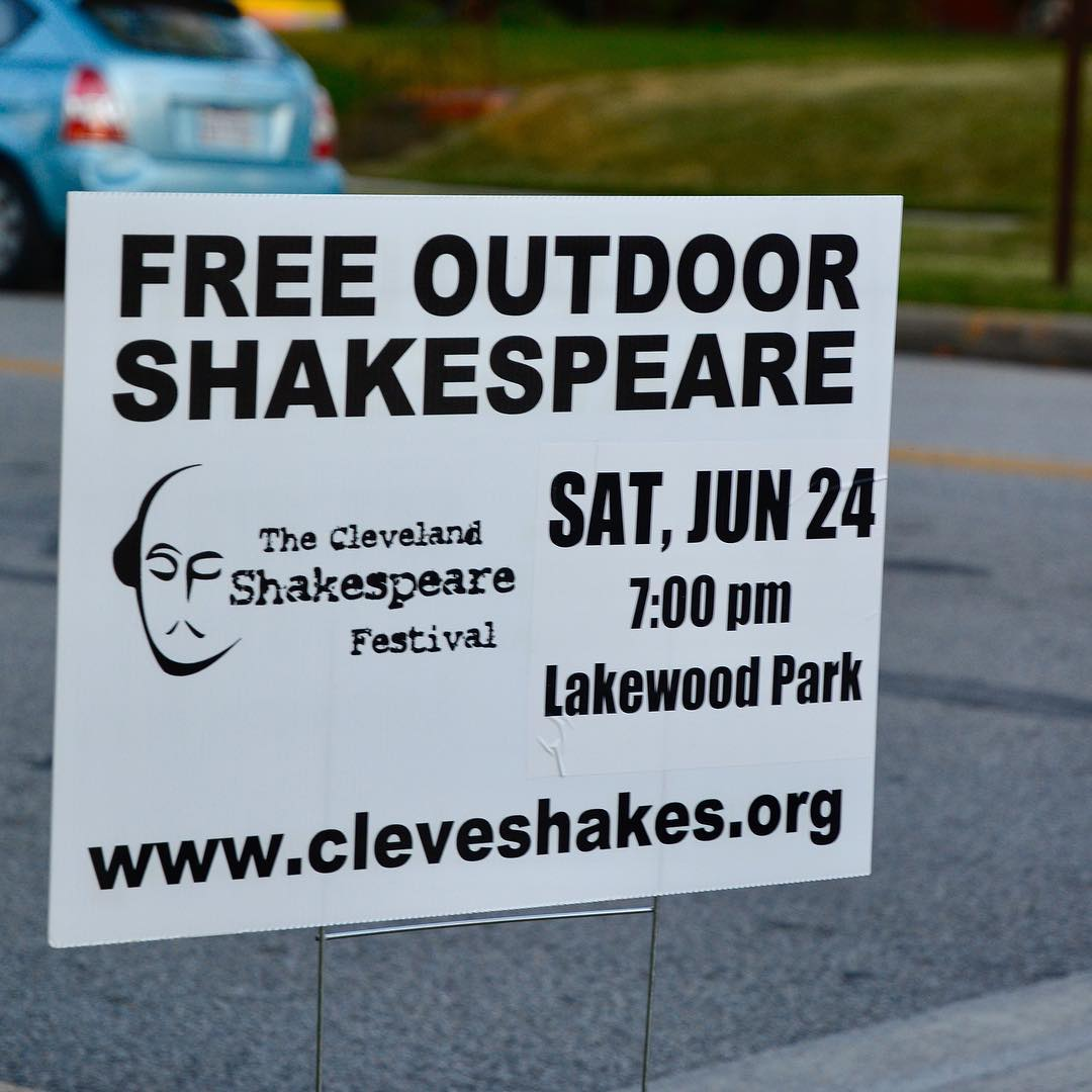 The Cleveland Shakespeare Festival TONIGHT at Lakewood Park FREE hellip