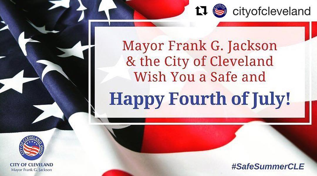 Repost cityofcleveland  Have a great Fourth of July CLE!hellip