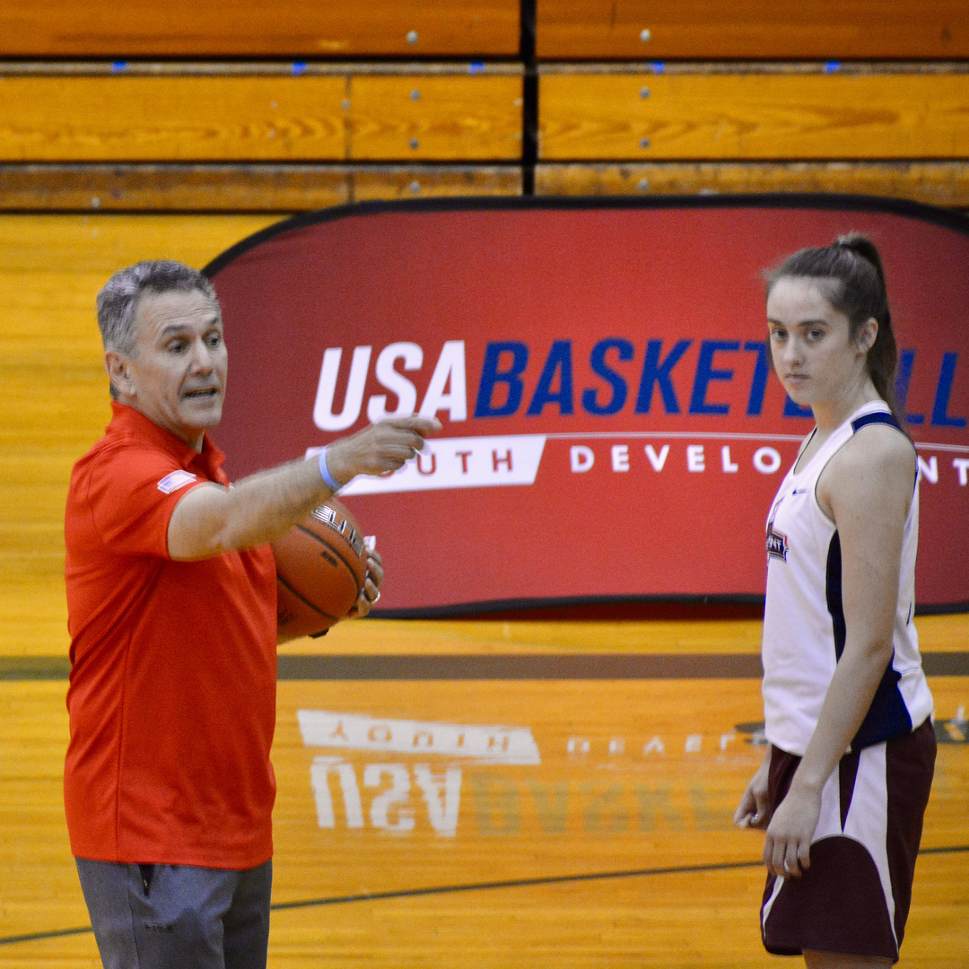 Keith Dambrot of Duquesne University runs offensive sets at usabasketballhellip
