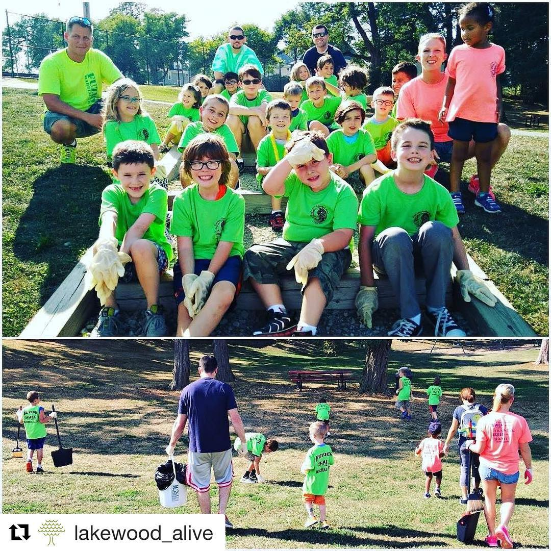 Repost lakewoodalive  TGIF! Today a superb volunteer group comprisedhellip