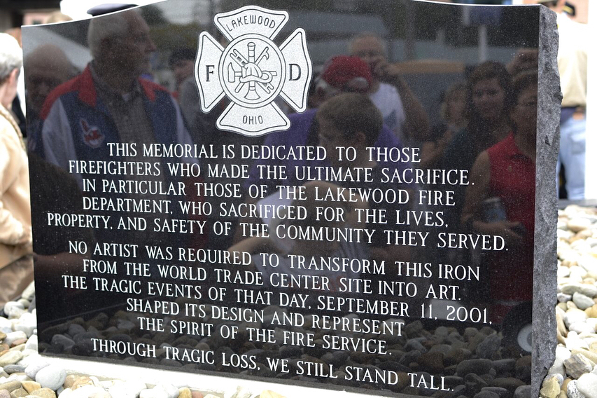 911 neverforget memorial at Lakewood Fire Department 1lkwd