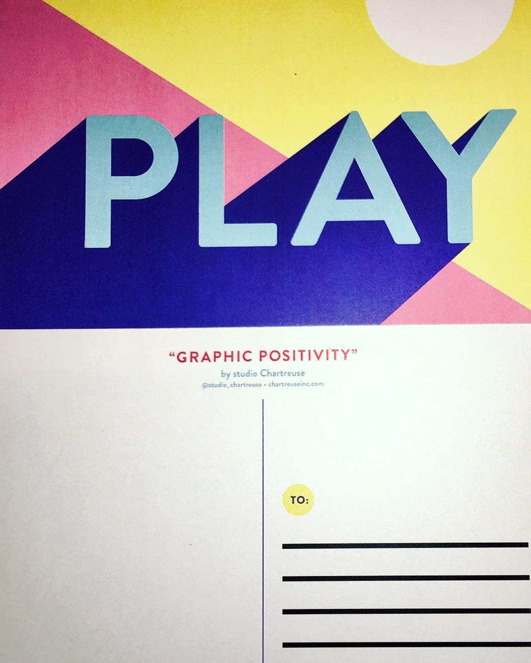 Graphic Positivity Postcards PLAY studiochartreuse RosewoodAveMural
