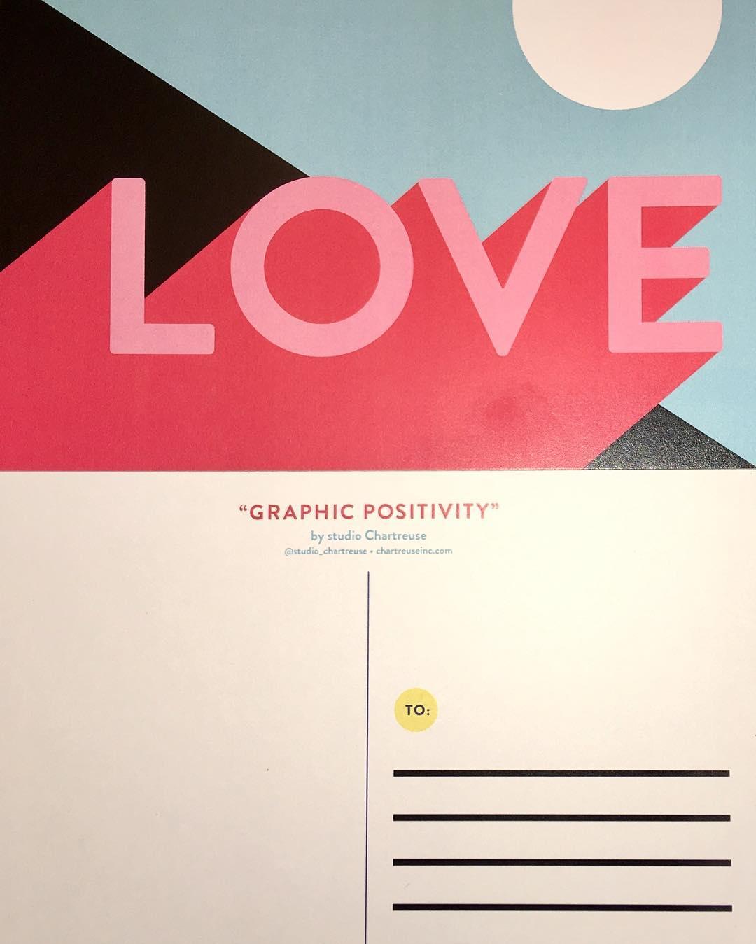 Graphic Positivity Postcards LOVE studiochartreuse RosewoodAveMural