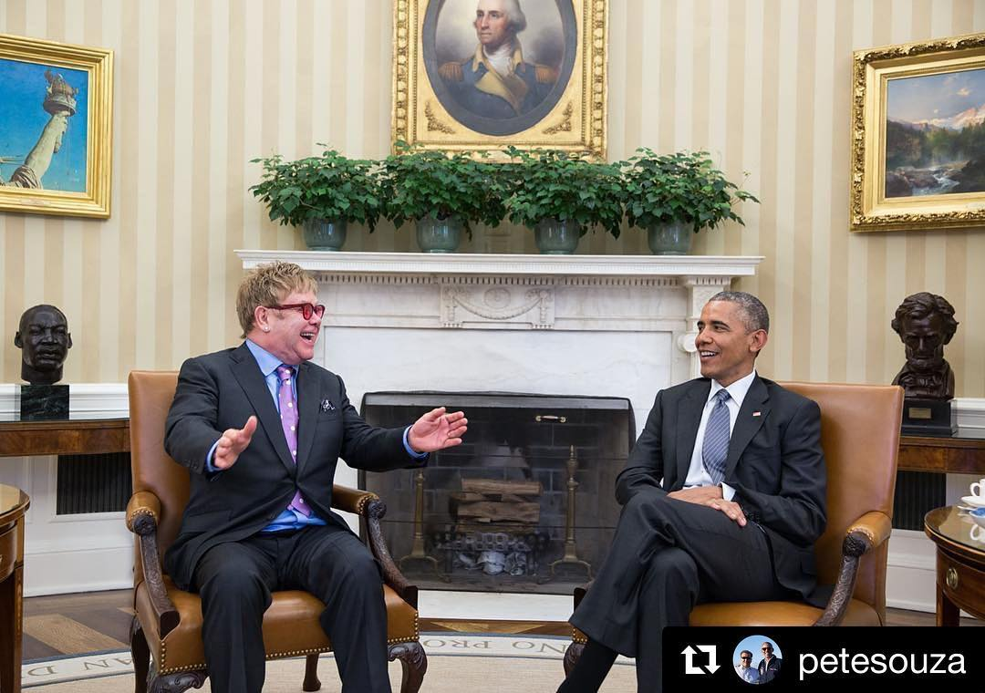 Repost petesouza  Theres only one Rocket Man here meetinghellip