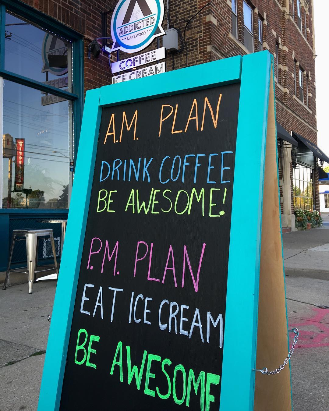 Todays Plans coffee icecream awesomeness lakewood madisononthemove