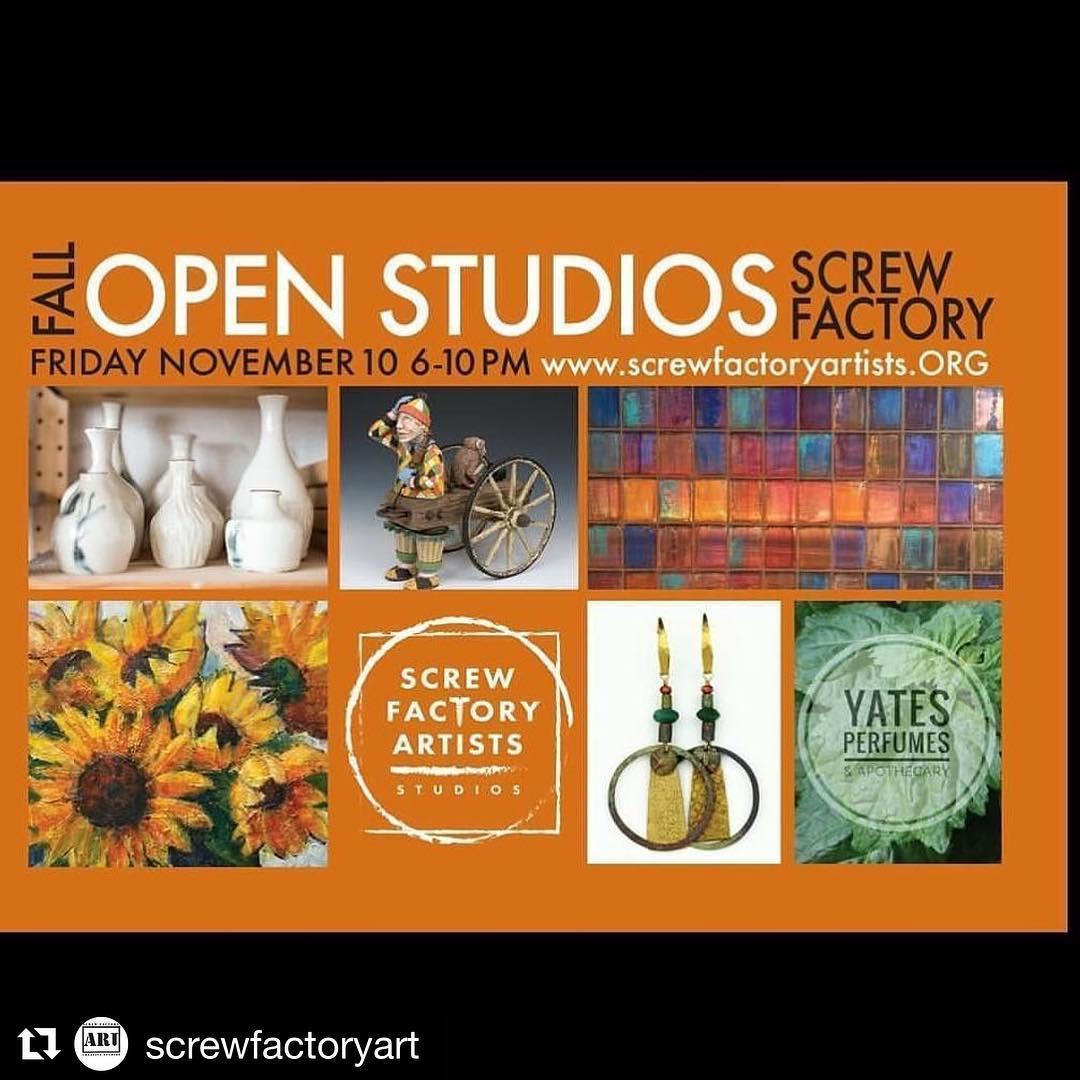 Repost screwfactoryart  Our next open studio is coming soonhellip
