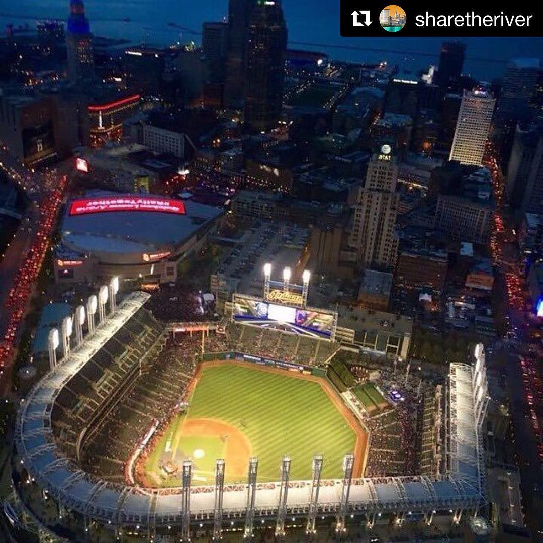 Repost sharetheriver  Whos ready for Cleveland and progressivefield tohellip