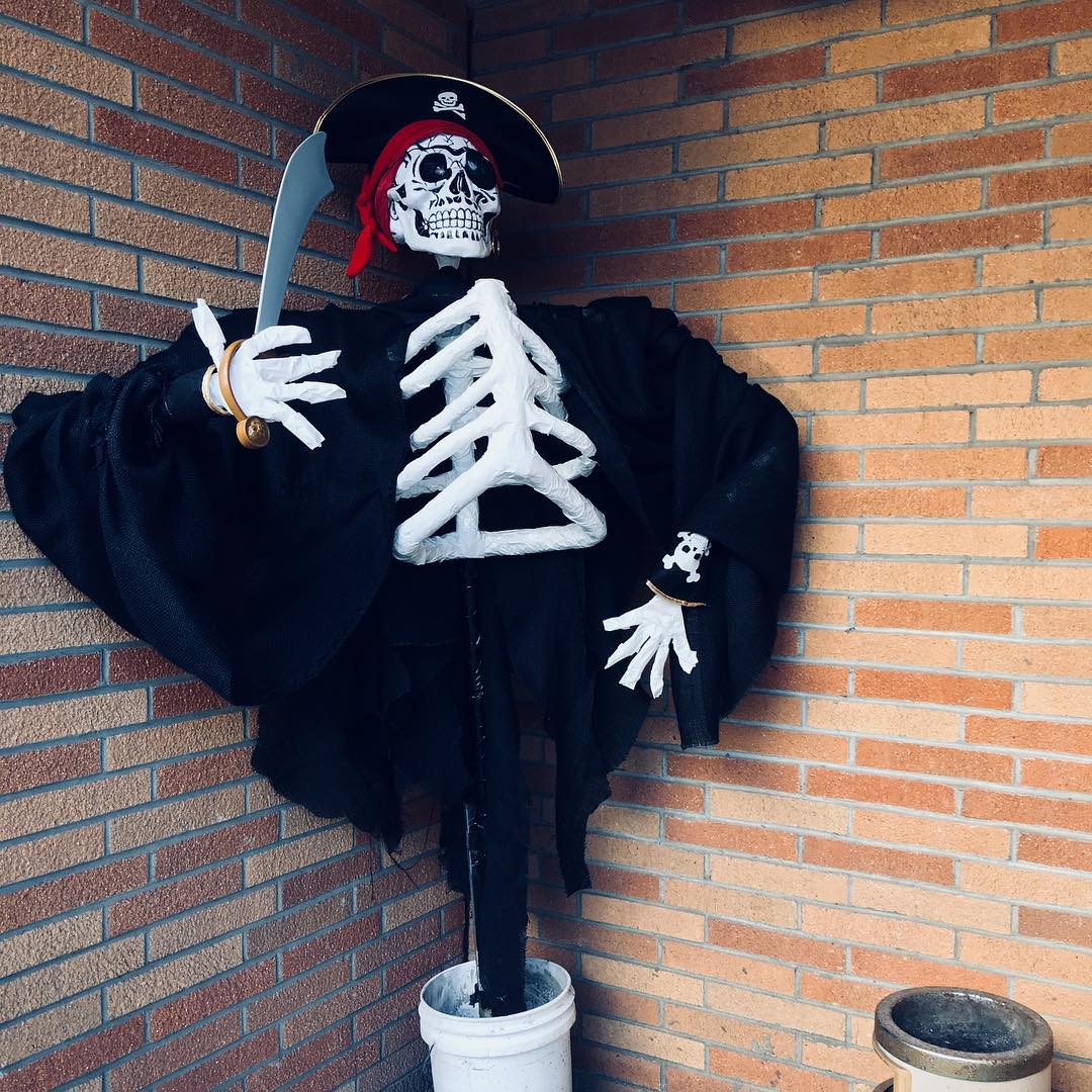 Pirate Skeleton Scarecrow lurking in a corner of the Waterburyhellip