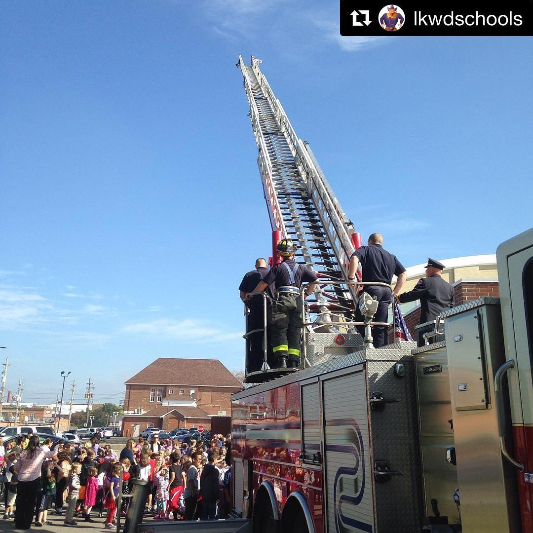 Repost lkwdschools  LakewoodFire Department making the rounds at ourhellip