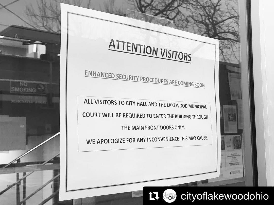Repost cityoflakewoodohio  Hey Lakewood residents! Updated security measures arehellip