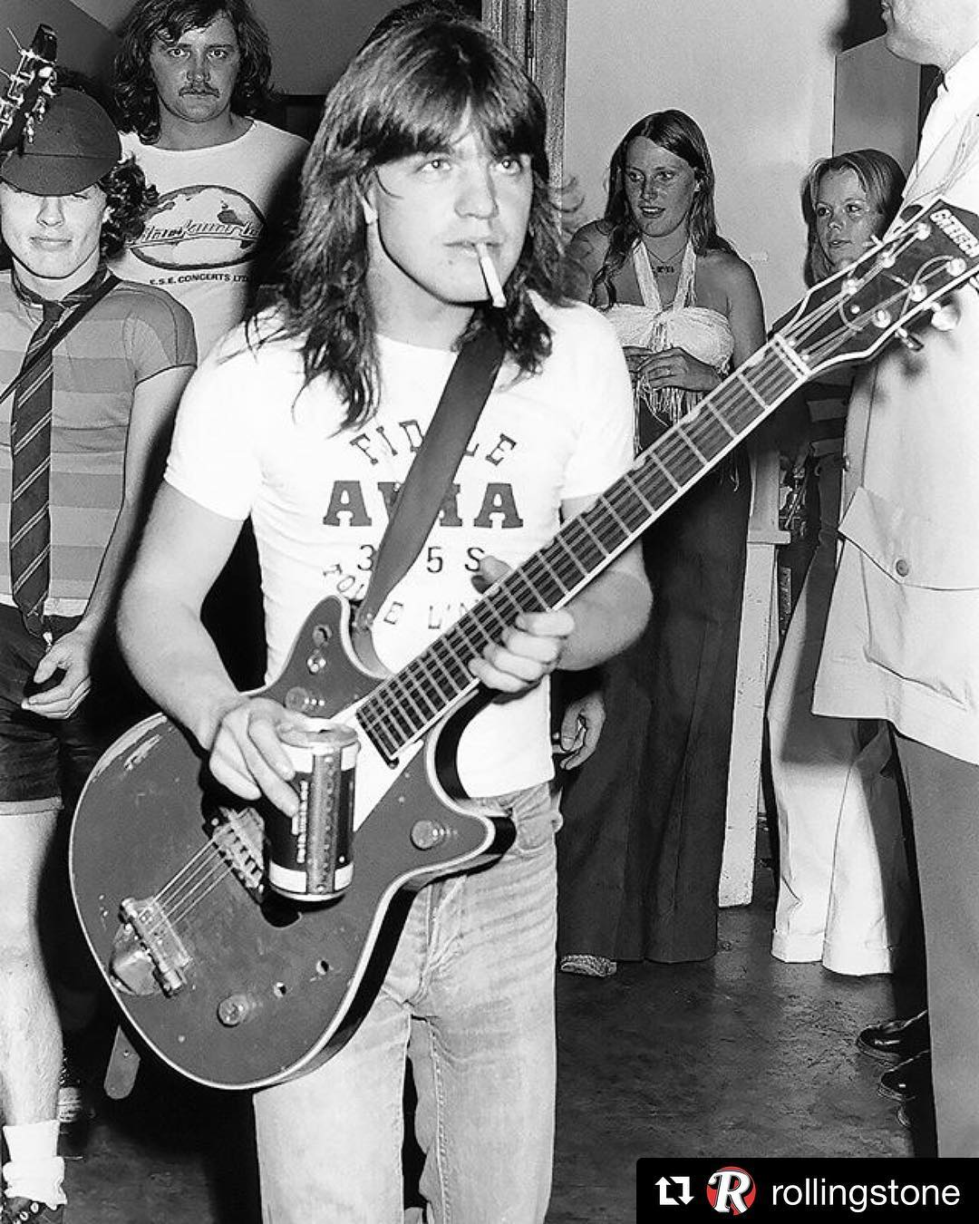 Repost rollingstone  Malcolm Young guitarist and cofounder of ACDChellip