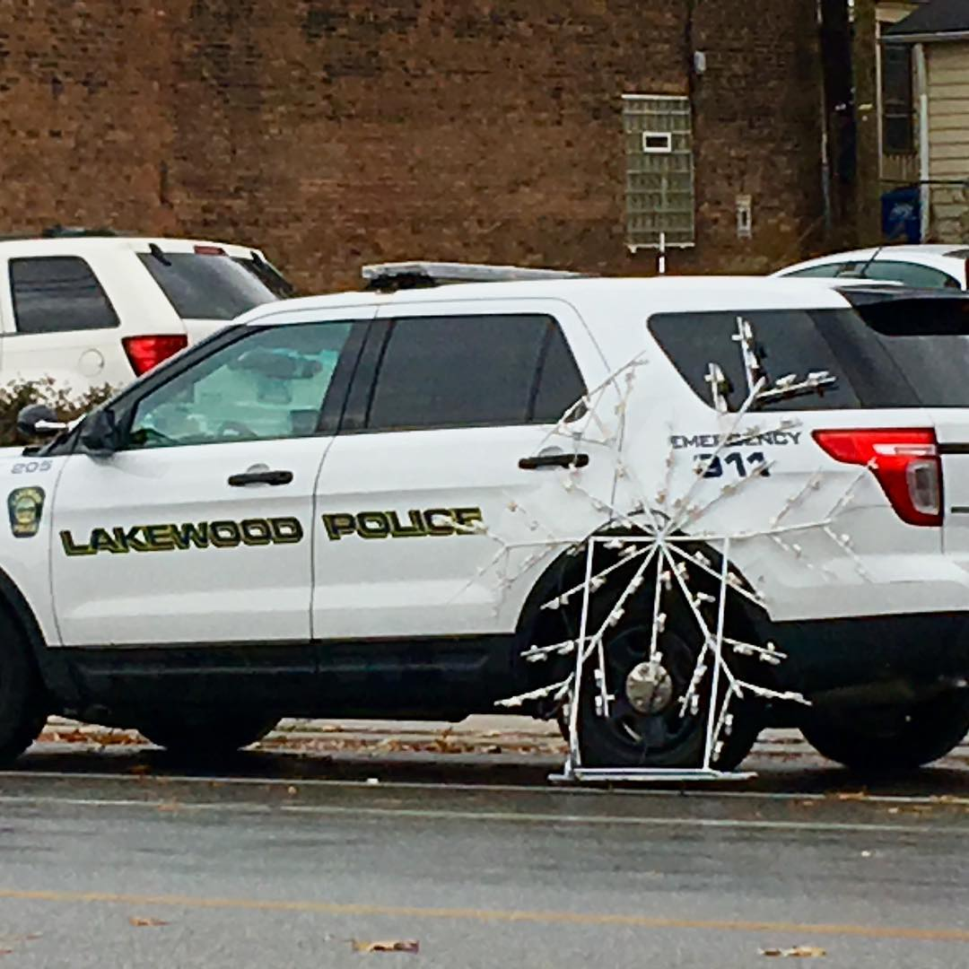 Lakewood Police  get into the holiday spirit by decoratinghellip