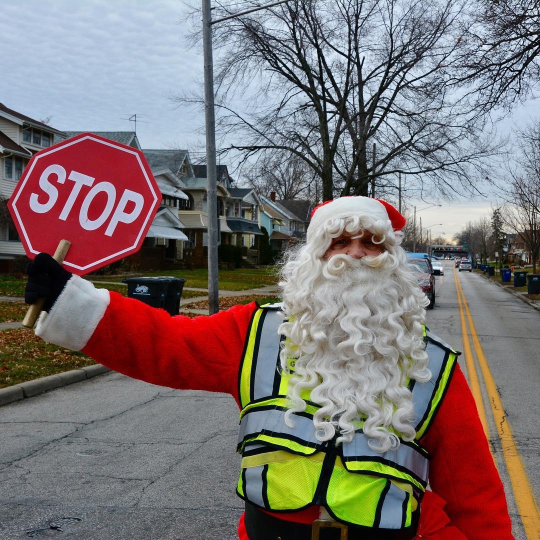 SANTA! I know him! The regular lkwdschools crossing guard athellip
