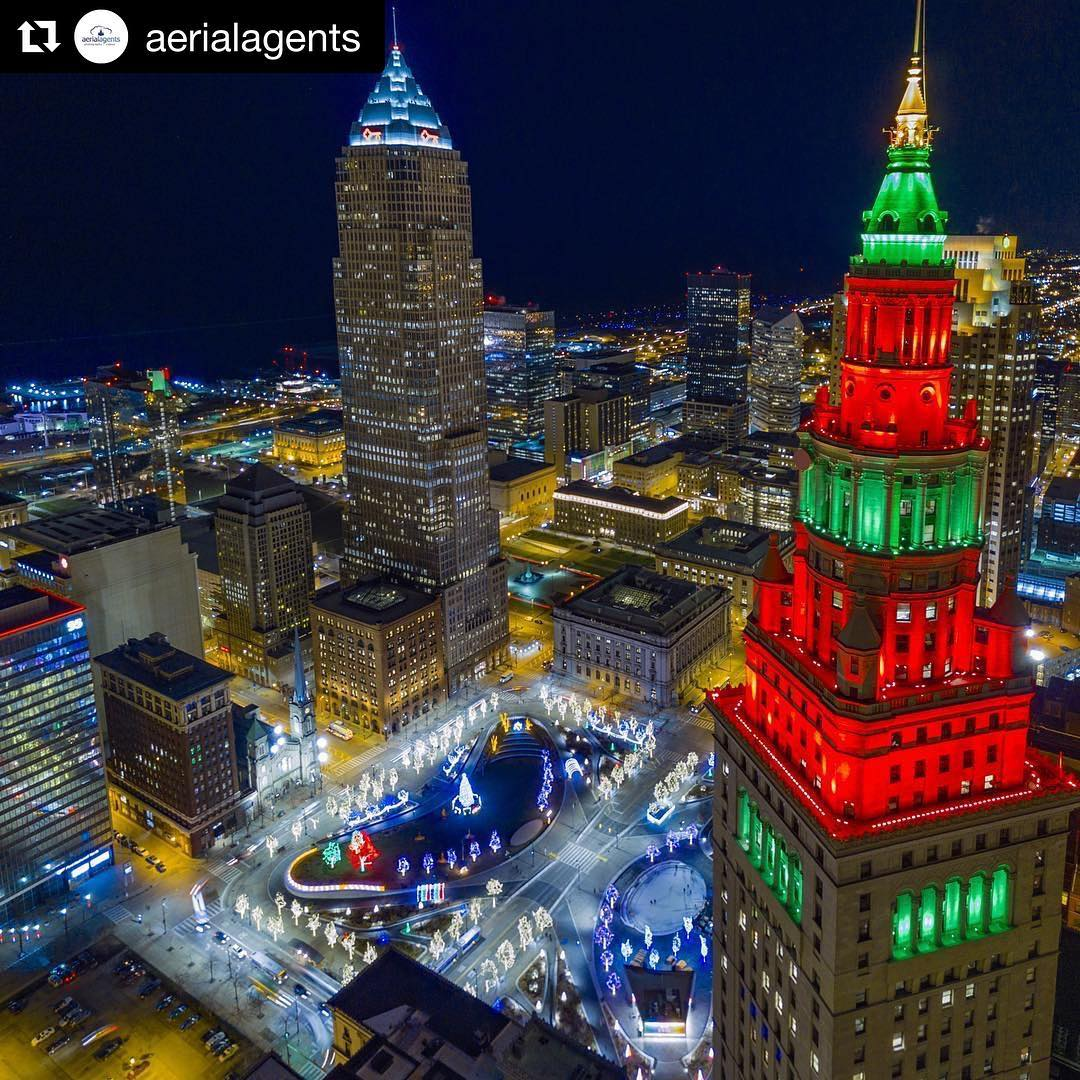 Repost aerialagents  A Christmasgram from Cleveland