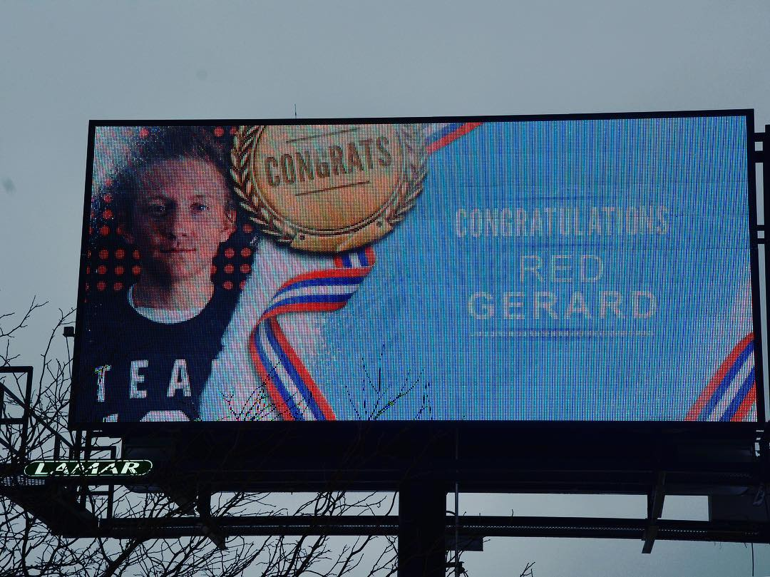 Congratulations RedmondGerard billboard on Center Ridge Rd in Rocky Riverhellip
