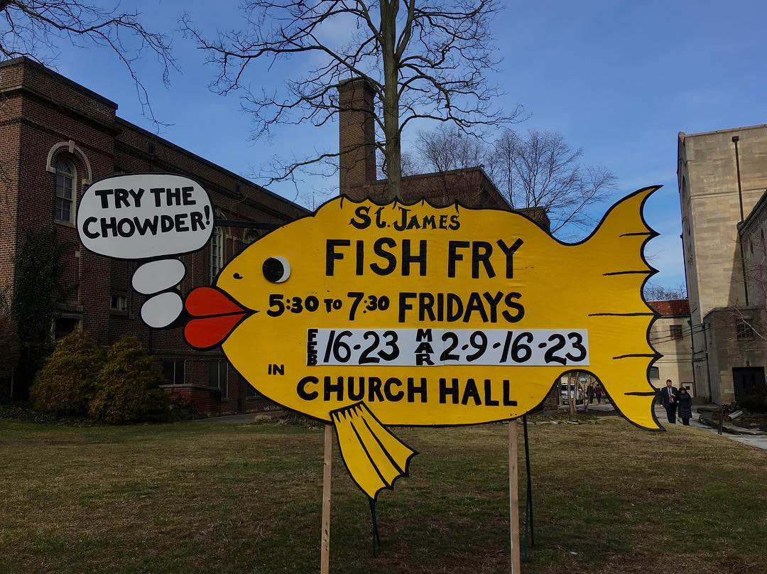 The St James Fish Fry sign is up! Many otherhellip