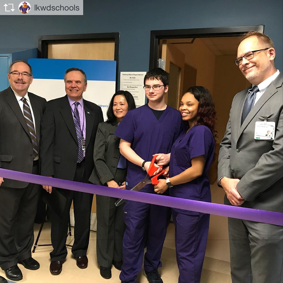 Repost from lkwdschools Cutting the ribbon on the new Clevelandhellip