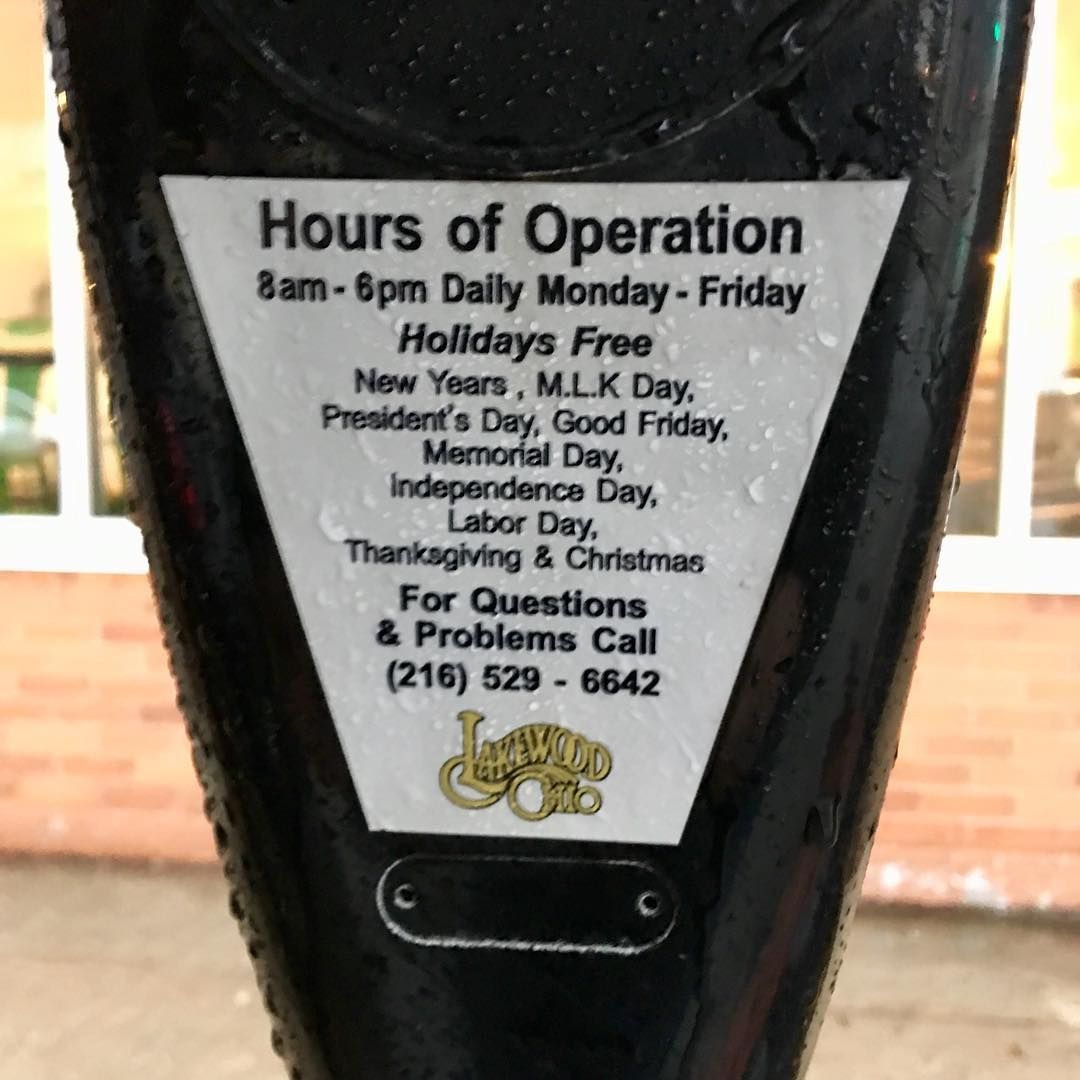 FREE PARKING in cityoflakewoodohio on PresidentsDay!